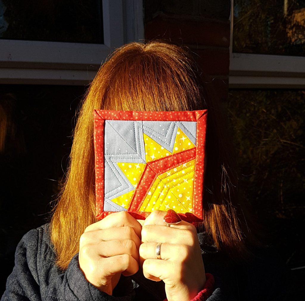 Quarter sun mug rug