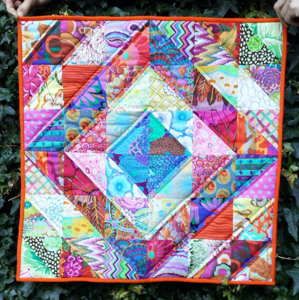 Kaffe Fassett multi colour quilt