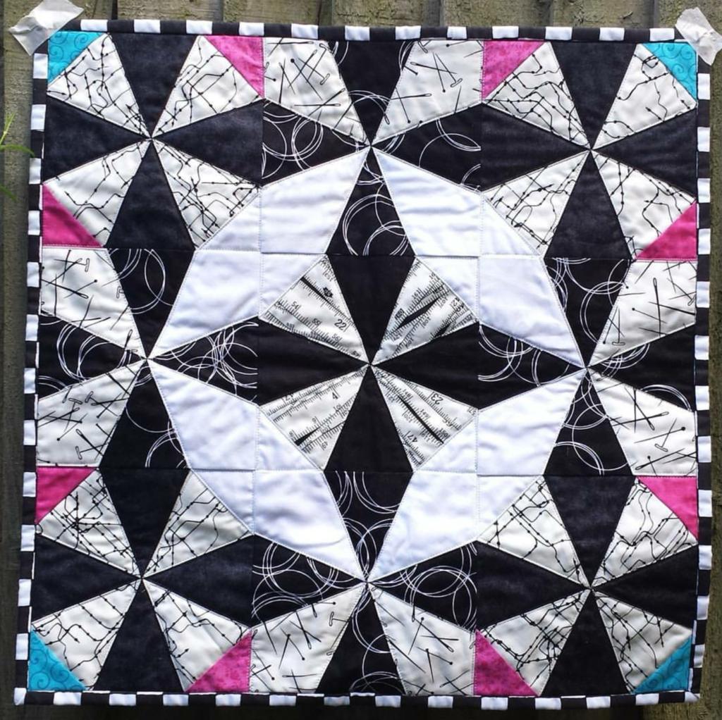 B&W quilt