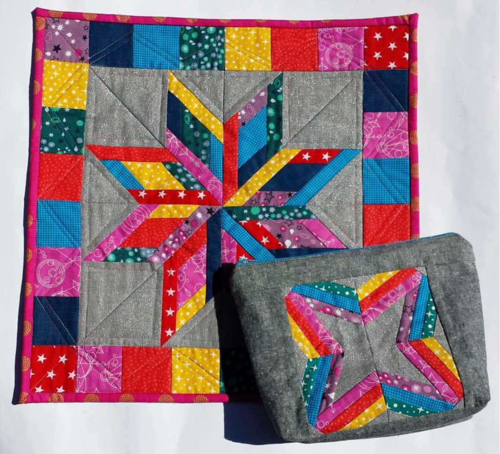 Star quilt and pouch