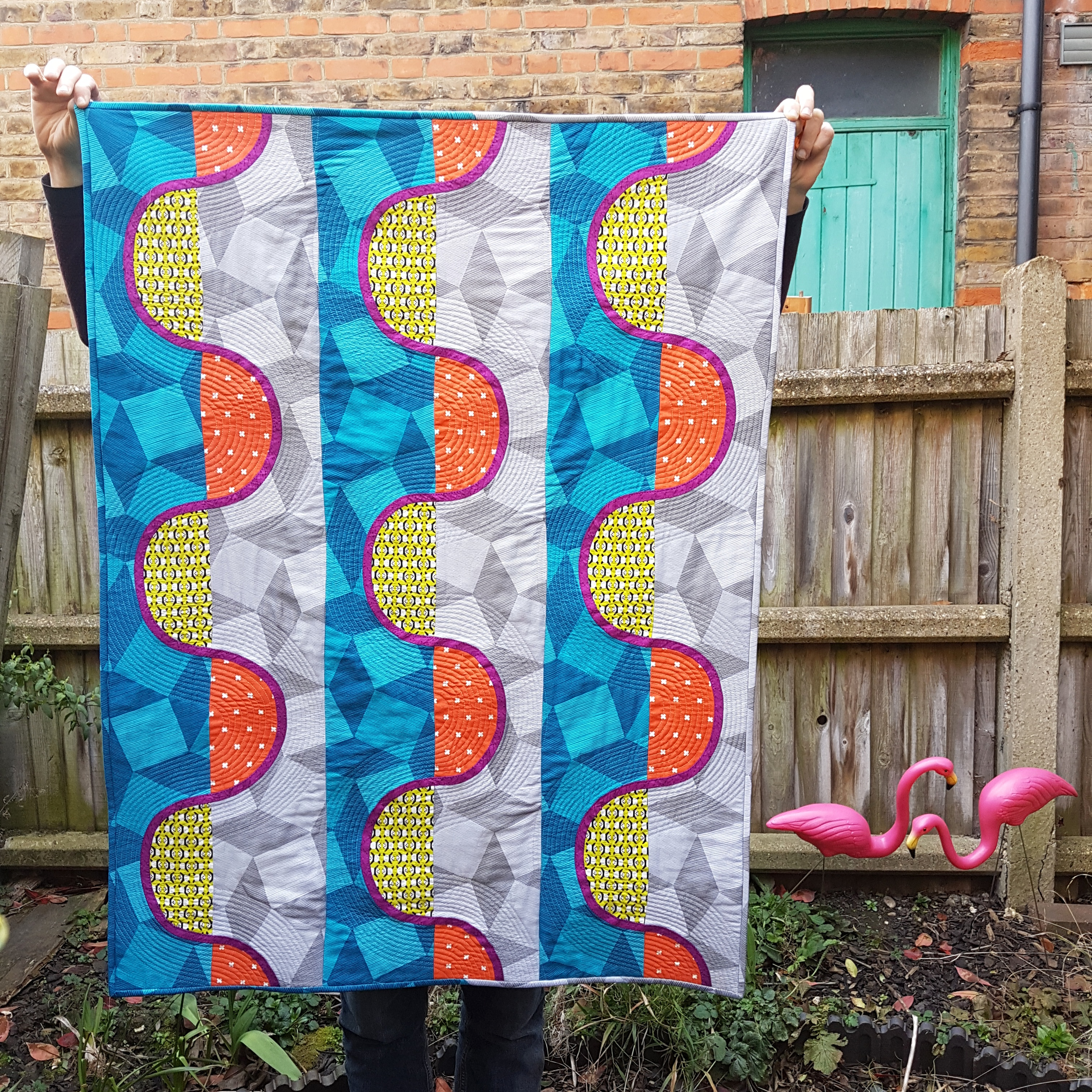 Slalom Quilt made after the workshop with Jenny Haynes @pappersaxten
