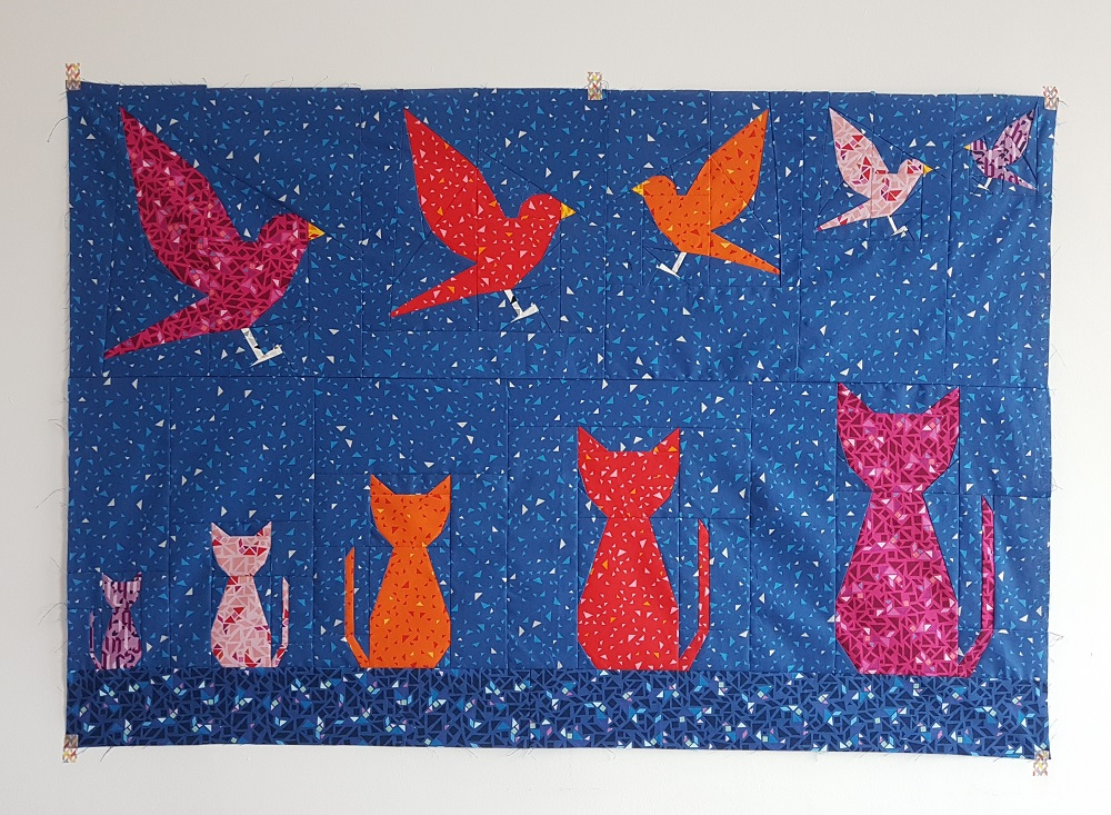 My two new FPP patterns – Cat Silhouette and Birdie