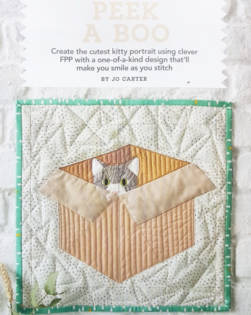 Peek A Boo Mini Quilt With Frank The Cat Zephyr Skies