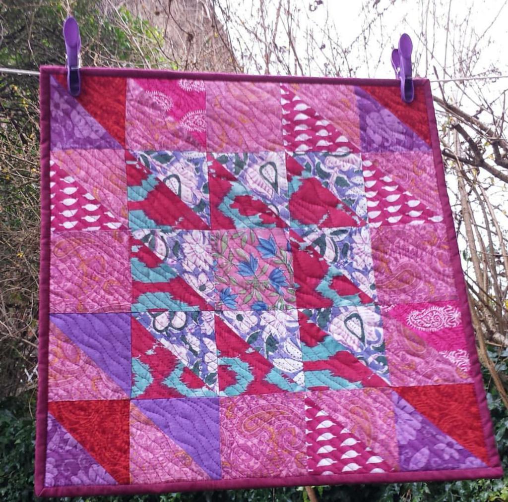 Indian Fabrics pink mini quilt