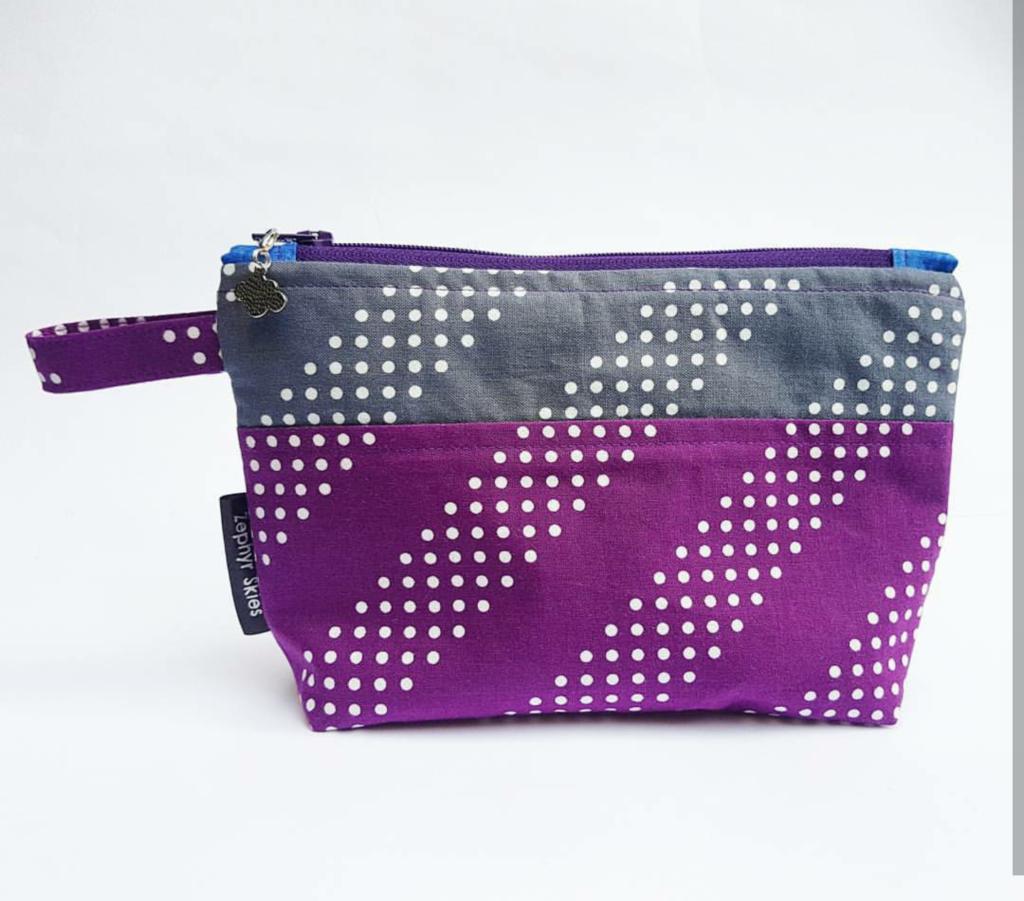Pattern matched zipper pouch