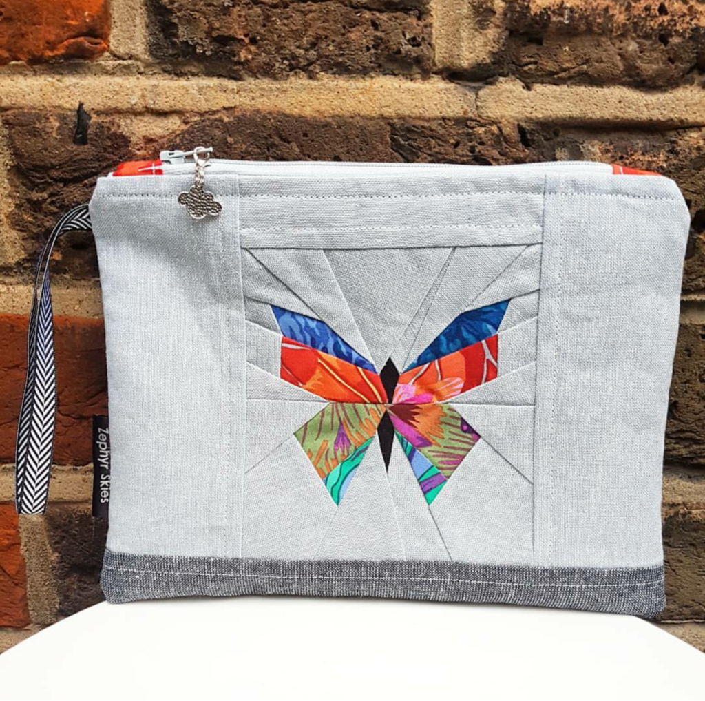 Butterfly zipper pouch