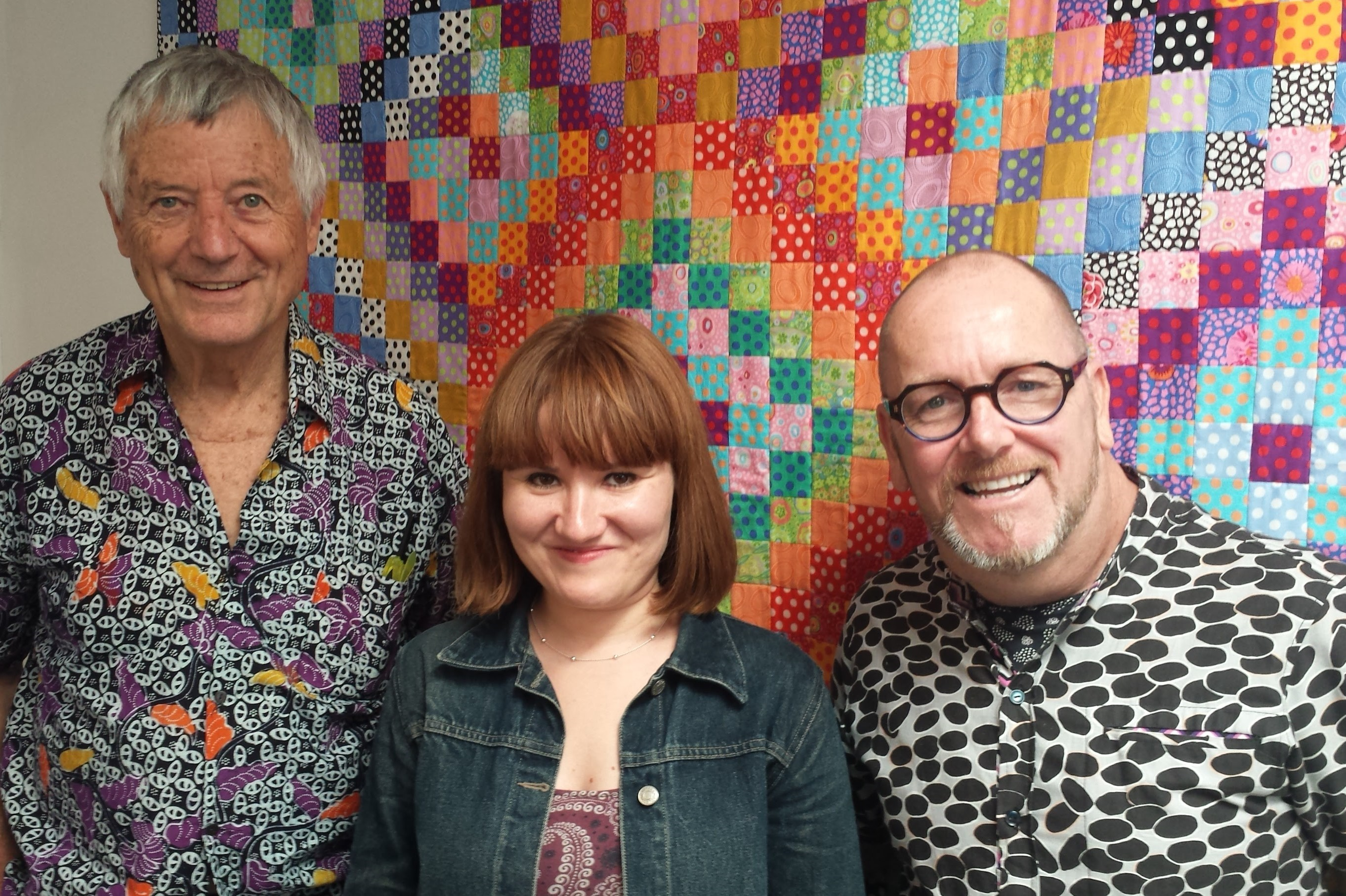 Creating a quilt with help from Kaffe Fassett and Brandon Mably