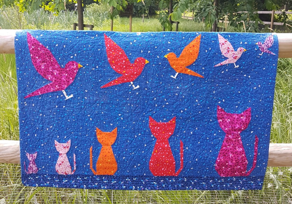 Catryoshkas and Cats & Birds quilts