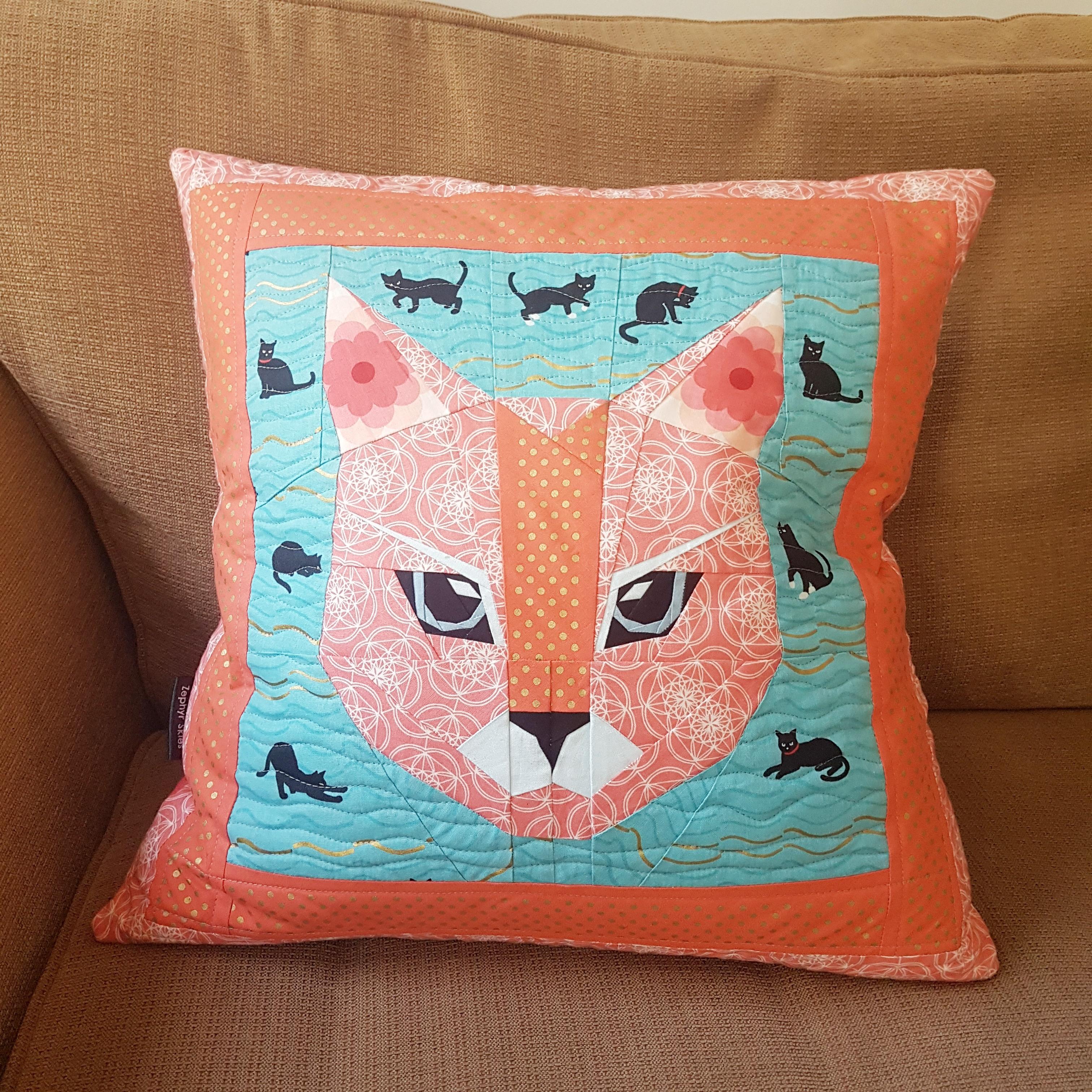 Cat Head Cushion